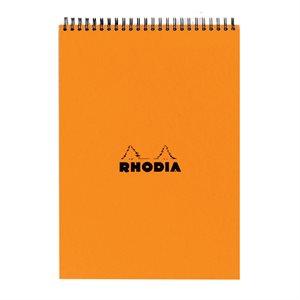 Bloc spiralé entête Orange Rhodia
