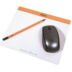 Tapis de souris bloc-notes Orange Rhodia