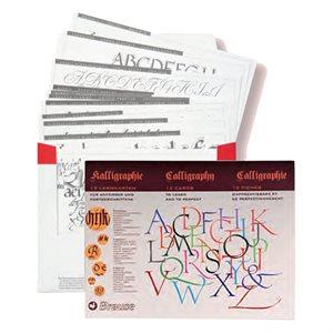 Feuilles d'apprentissage calligraphie
