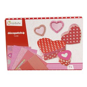 Boîte créative Decopatch amour