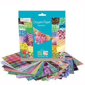 Papier Origami 60 fls assorties Géométrique