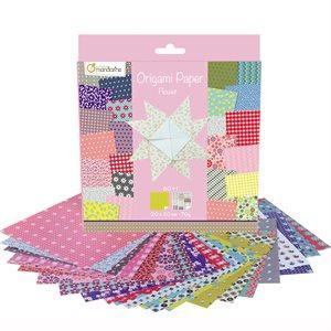 Papier Origami 60 fls assorties Fleurs