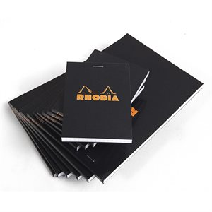 Rhodia Head Stapled Pad Black