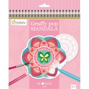 Cahier à colorier GraffyPop Mandala Fille