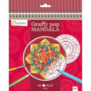 Cahier à colorier GraffyPop Mandala Noël
