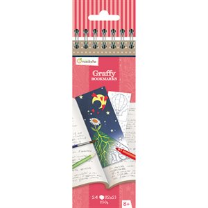 Marque-pages à colorier Graffy Bookmarks- Poésie